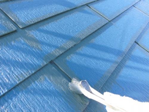 屋根上塗りダメ込み